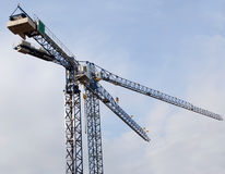 Two cranes in the sky Stock Photos