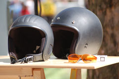 Two Crash Helmets Stock Photos
