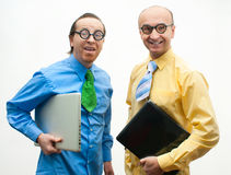 Crazy businessmen Stock Photography