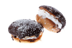Two cream puffs Royalty Free Stock Photo