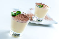 Two creamy vanilla desserts Royalty Free Stock Photo