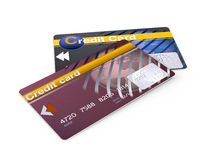 Two credit cards Stock Photography