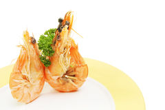 Two crevette prawns Stock Photos