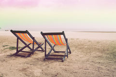 Two crib on the beach ,sea and sky.  Stock Image