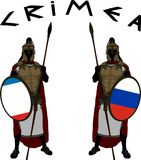 Two crimea protectors. vector illustration. For web Stock Images