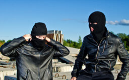 Two criminals Royalty Free Stock Image