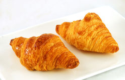 Two crispy croissants Stock Photo