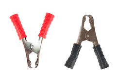 Two crocodile clips Royalty Free Stock Photo