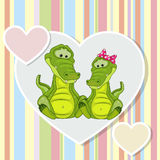 Two Crocodiles Royalty Free Stock Photos