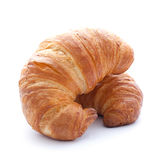 Two croissants. Isolated on white background Stock Photography