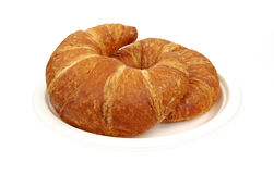 Two Croissants Royalty Free Stock Images