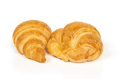 Two croissants Royalty Free Stock Photography