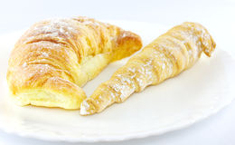 Two croissants Stock Image