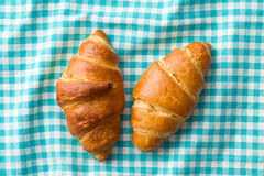 Two croissants Royalty Free Stock Photo