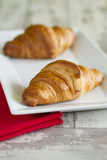 Two croissants Royalty Free Stock Photos