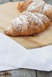 Two Croissants Stock Photo