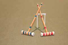 Two Croquet Mallets Stock Photography