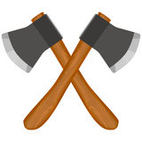Two cross ax. Es, vector art illustration of weapons Stock Photo