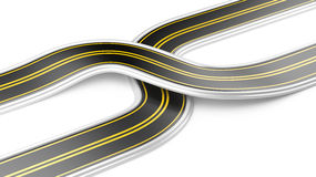Two cross roads -  business strategy Stock Photo