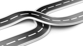 Two cross roads -  business strategy Stock Image