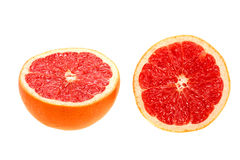 Two cross section of grapefruit Royalty Free Stock Photography