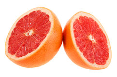 Two cross section of grapefruit Stock Photo