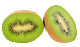 Two cross section of kiwi Stock Image