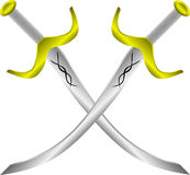 Two crossed arabic swords Royalty Free Stock Image