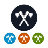 Two Crossed  Axes Icon Royalty Free Stock Photography