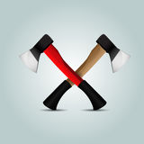 Two crossed axes Royalty Free Stock Images