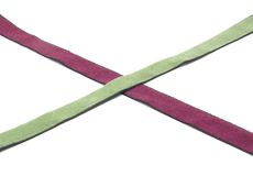 Two crossed bands of rayon Stock Photos