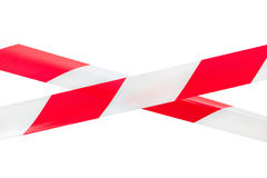 Two Crossed Barrier Tapes. Stock Image