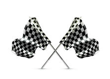 Two crossed checkered flags Stock Image