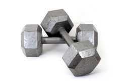 Two Crossed Dumbbells Royalty Free Stock Photo