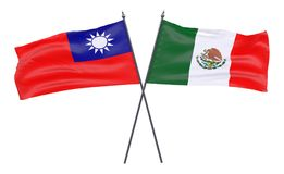 Two crossed flags Stock Photo