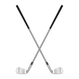 Two Crossed Golf Clubs Royalty Free Stock Image