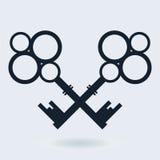 Two crossed keys Stock Image