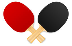 Two crossed ping-pong rackets Royalty Free Stock Photo