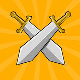Two crossed swords Stock Photo