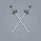 Two Crossed Swords Royalty Free Stock Image