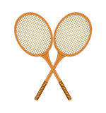 Two crossed tennis rackets Royalty Free Stock Photo
