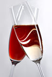 Two crossed wine glasses Royalty Free Stock Photo
