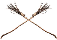Two crossed witches broom Stock Photo