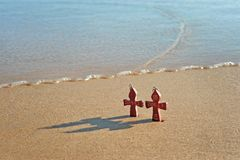 Two crosses Royalty Free Stock Photography