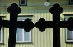 Two crosses in Rauma no.1 Stock Photo