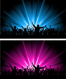 Two crowd scenes Royalty Free Stock Photos