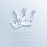 Two crowns Stock Images