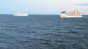 Two cruise liners in Baltic Sea stock video