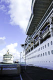 Two Cruise Ships royalty free stock image