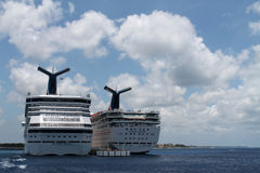 Two Cruise ships Royalty Free Stock Photo